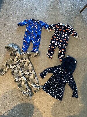 Boys size 0 winter bundle including dressing gown