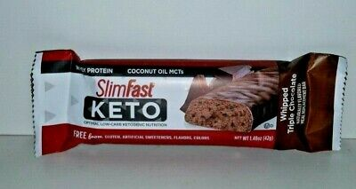 20 NEW Slim Fast Keto Whipped Triple Chocolate Meal Replacement Bars