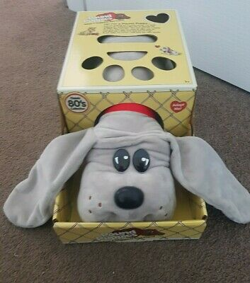 """POUND PUPPIES Classic 80's Collection LARGE 15"""" Grey Plush Puppy Dog Doll"""