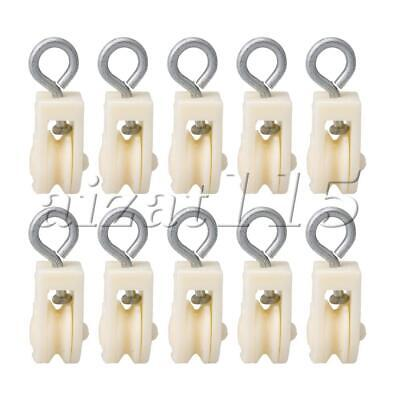 10pcs Plastic Single Wheel Swivel Lifting Rope Pulley Block for Farms