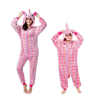 Adult / Kids Pajamas Jumpsuit Cosplay Unicorn Nightgown Kigurumi Party Sleepwear