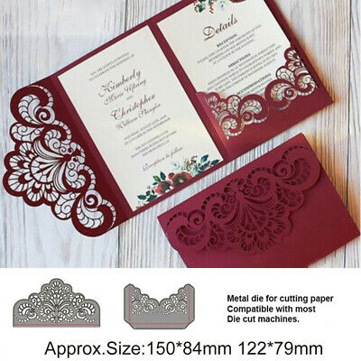 Lace Metal Cutting Dies Stencil Scrapbook Photo Album Decor Embossing Crafts Set