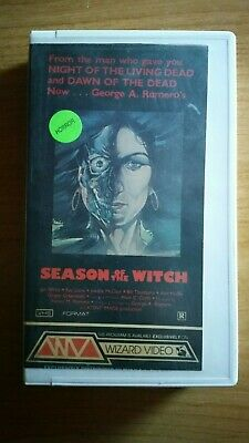 Season of the Witch Vintage Horror VHS George Romero Wizard Video Super Rare!