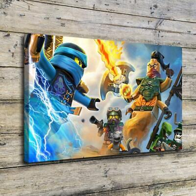 "12""x20""Ninjago HD Canvas Prints Home painting Decor Picture Room Wall Art Poster"