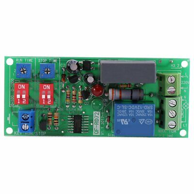 1 pz ac100v 250v infinite loop ciclo timer modulo delay rele' on/off regolabile