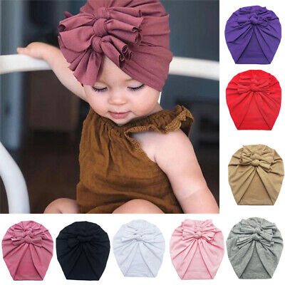New Baby Headbands Turban Knotted Girl's Hair Bands for Newborn Children Cotton