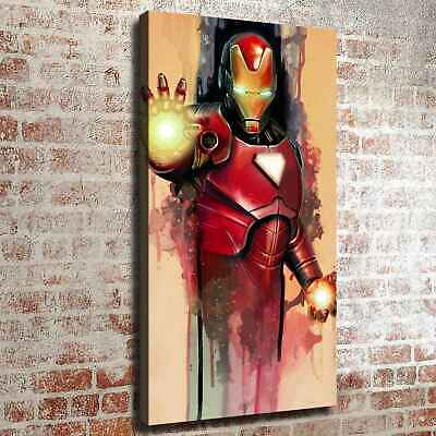 """16""""x28""""Iron man watercolor HD Canvas print Painting Home decor Wall Picture art"""