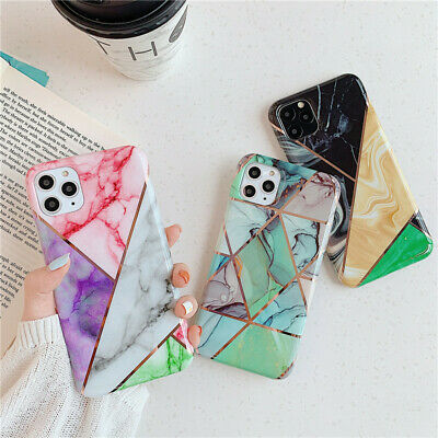 Geometric Marble Case for iPhone 11 Pro XS MAX X XR 8 7 6 Plus Soft Pastel Cover