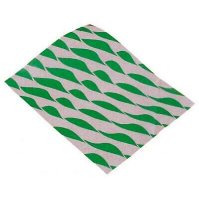 Food BURGER WRAPS Greaseproof Paper Sheets Green Large 1000 Takeaway Cafe Bun