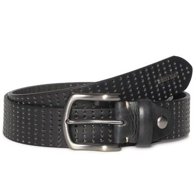 Rusty Neal Leather Belt with Buckle Black 4488 Black Belt