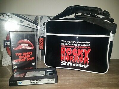 The Rocky Horror Picture Show Vinyl Tote Bag (New) & Bonus Vhs