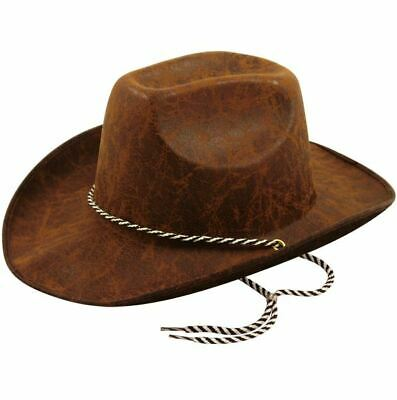 Adult Brown Cowboy Hat Wild Western Rodeo Fancy Dress Accessory Woody Toy Story