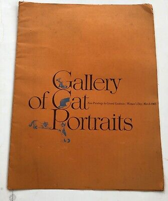 Vintage The Gallery of Cat Portraits Girard Goodenow 9 Prints Womens Day 1965