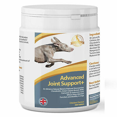 Advanced Joint Support+ Supplement For Dogs - Glucosamine, Chondroitin & MSM