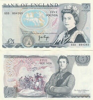 J.b.page,Mint Uncirculated £5 Notes,1973-1980, D-Prefix,With Consecutive Numbers