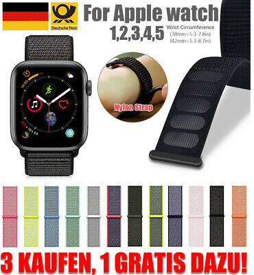 Für Apple Watch Armband Nylon Uhrenarmband Sport Loop Series 1 / 2 / 3 / 4 / 5