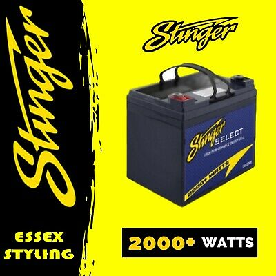 Stinger SSB2000 Select 2000W High Performance Car Audio Battery New In