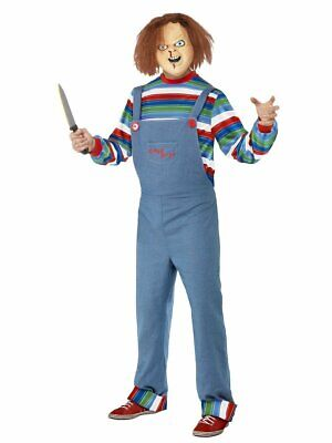 Mens Adults Fancy Dress Halloween Costume Smiffys Chucky Childs Play 2 Med