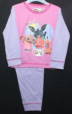 BING BUNNY Pyjamas/Girl's 100% Cotton Long-Sleeved Pink & Lilac PJs 1-4 Years