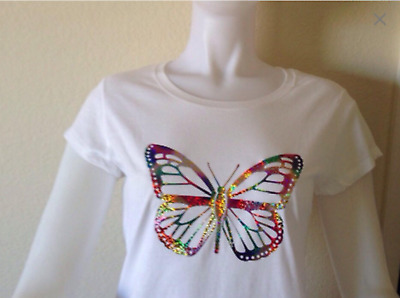 Ladies & Girls White T-Shirt With Perfect Design use cutting Vinyl