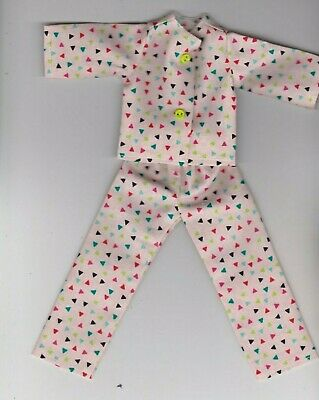 Doll Clothes-Awesome RETRO LOOK Print Pajamas that fit Barbie-Homemade BP2