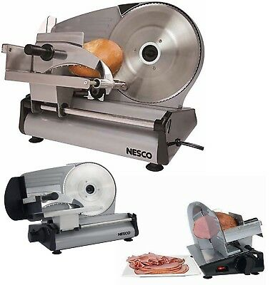 "8.7"" Blade Electric Meat Food Slicer Steel Cheese Cutter Kitchen Tool Commercial"