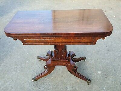 Antique Regency Mahogany Card Table      Delivery Available