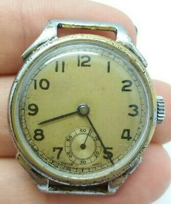 RARE Old SWISS watch FHF WW2 original dial 15 jewels