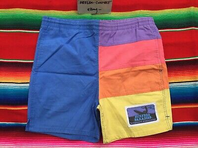 VTG HOBIE Surfers Paradise colorblock swim trunks short M 80s surf beach OP rare