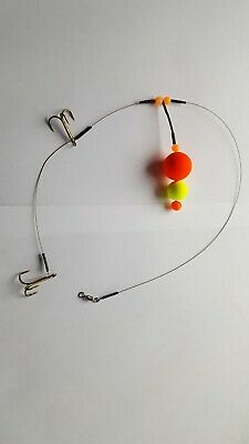 No #4 Semi-Barbed Pop Up wire Trace BUY 4 GET 1 FREE Pike Fishing Dead Bait Rig