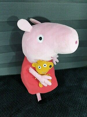 Large  TY Peppa Pig Plush Soft Toy Teddy pink Approx 20 inches