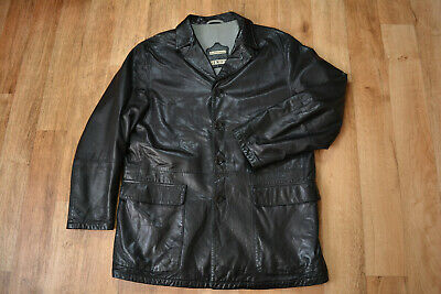 GENUINE Men's GIMO'S Extra Soft Leather Blazer Jacket / Over Coat size L