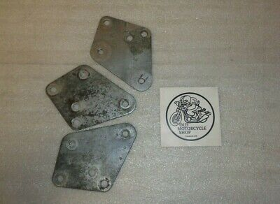 1974 Norton Commando 750 Exhaust Mounting Main Plate ( Set Of 3 )