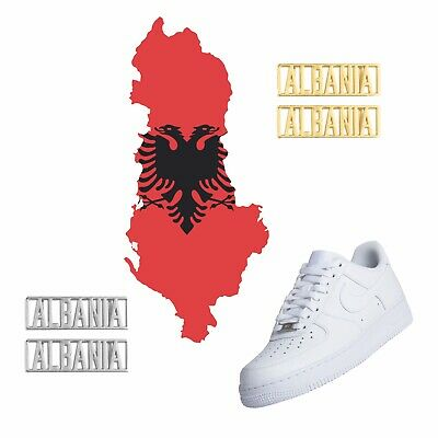 Albania Country Luxury Dubraes Gold & Silver Sneakerhead Lace Locks For Shoes