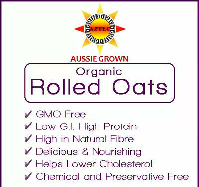 Oats Rolled Organic 4kg - Australian Grown