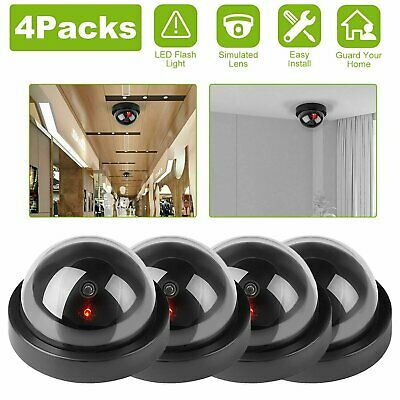 Dummy Dome Camera With LED Light 4 Packs Home Surveillance Security Camera