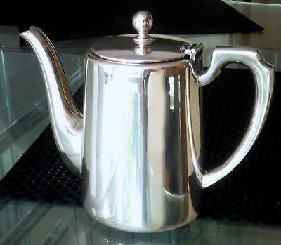 Sheffield Silver Plated Victorian Coffee Pot-Walker & Hall   ^