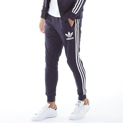 Adidas Mens Climalite Classic 3 Stripe Tracksuit Bottoms Joggers Track Pants
