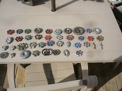 Vintage Mixed LOT of 40 WATER VALVE FAUCET HANDLES INDUSTRIAL KNOBS Steambunk