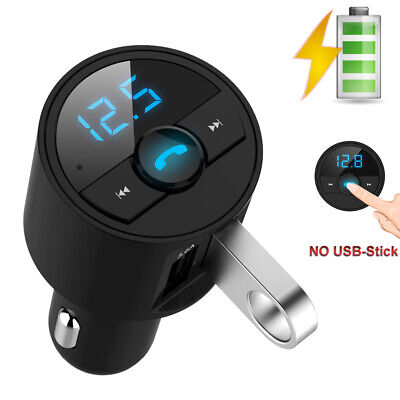 Car Bluetooth FM Transmitter MP3 Player Radio Adapter Dual USB Charger US Seller