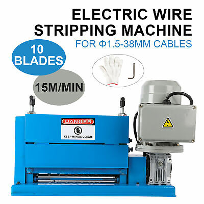 Electric Portable Powered Comercial 1/2HP Cable Stripper Wire Stripping Machine