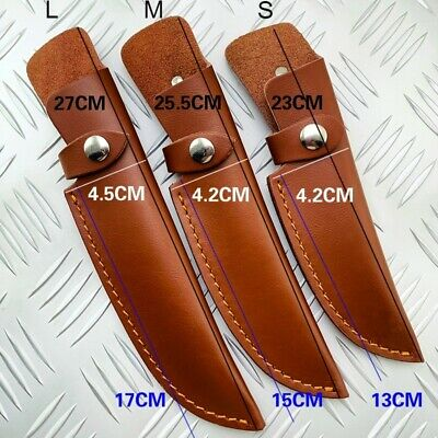 1X Leather Belt Straight Knife Sheath Pouch Cover for Fixed Blade Brown Portable
