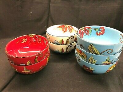 Tabletops Espana Lifestyle CAPRICE Cereal Bowls Set of 7! Mint!
