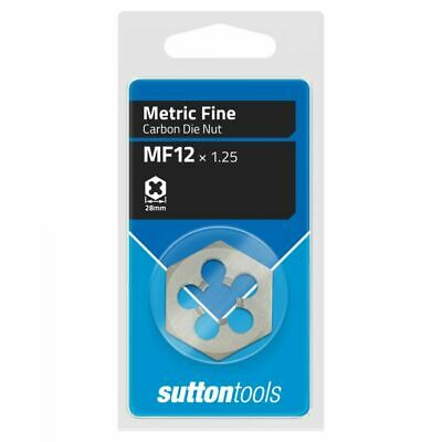 Sutton Tools METRIC FINE HEXAGON DIE NUT- M12x1.25mm, M12x1.5mm Or M14x1.5mm
