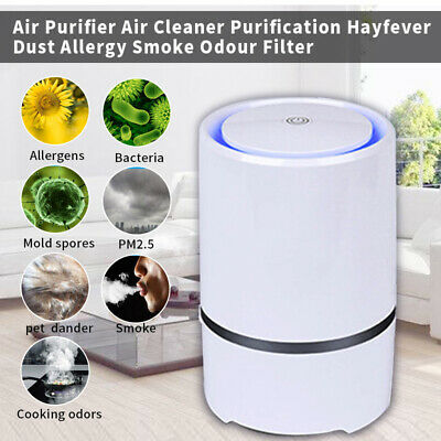Home Air Purifier True HEPA Filter Negative Ion Generator Freshener Air Cleaner