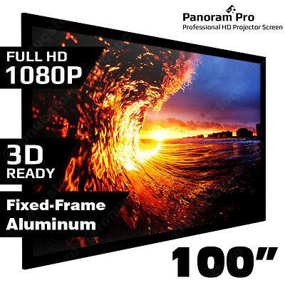 "100"" Inch Fixed Aluminum Frame Projector Screen 3D Home Theatre HD TV Projection"