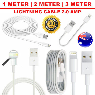 USB 2m 3m Lightning Cable Data for Apple Charger iPhone 6 X 8 7 5 iPad Air lot