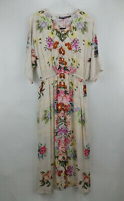 Tolani Collection Petite Lined Maxi Dress Natural Floral P1X NEW A347420