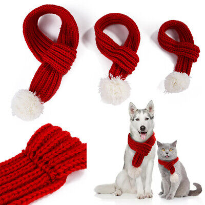 Christmas Knitted Dog Scarf Collar Winter Cats Dog Scarfs For Small Large Pet