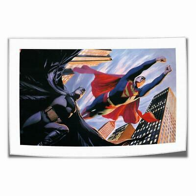 """12""""x20""""Superman and Batman HD Canvas prints Painting Home Decor Picture Wall art"""